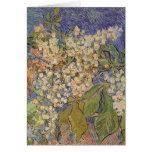 Ramas florecientes de la castaña de Vincent van Tarjetón