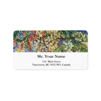 Ramas florecientes de las castañas, Van Gogh. Etiqueta De Dirección