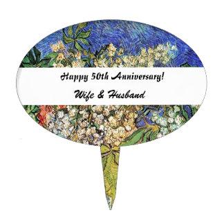 Ramas florecientes de las castañas, Van Gogh. Figuras De Tarta
