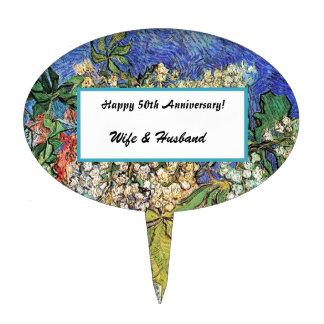 Ramas florecientes de las castañas, Van Gogh. Palillos De Tarta