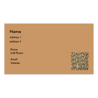 ramas marrones tarjetas de visita