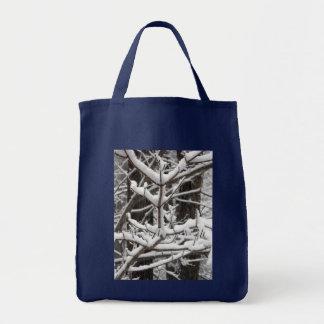 Ramas nevadas bolsa tela para la compra