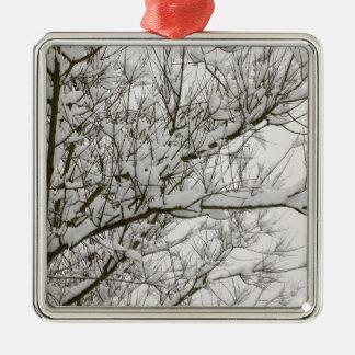 ramas nevadas ornaments para arbol de navidad