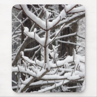 Ramas nevadas mousepad