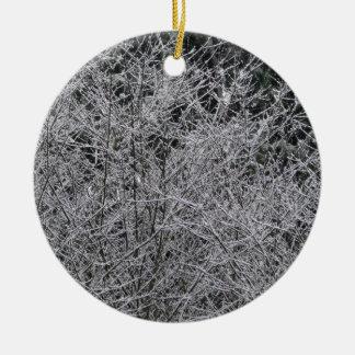 Ramas Nevado Ornamento Para Arbol De Navidad