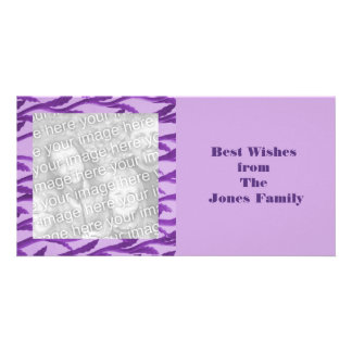 ramas púrpuras elegantes tarjeta personal
