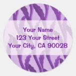 ramas púrpuras etiqueta redonda