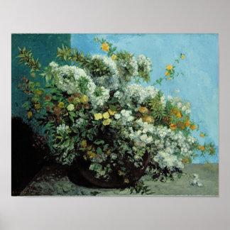 Ramas y flores florecientes, 1855 póster