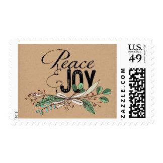Ramas y paz y alegría de las bayas sellos