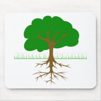 Ramas y raíces de árbol alfombrillas de ratón