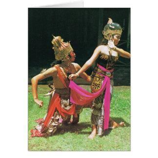 Ramayana Dancers, Hindu traditional dancers Greeting Cards