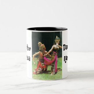 Ramayana Dancers, Hindu traditional dancers Two-Tone Coffee Mug