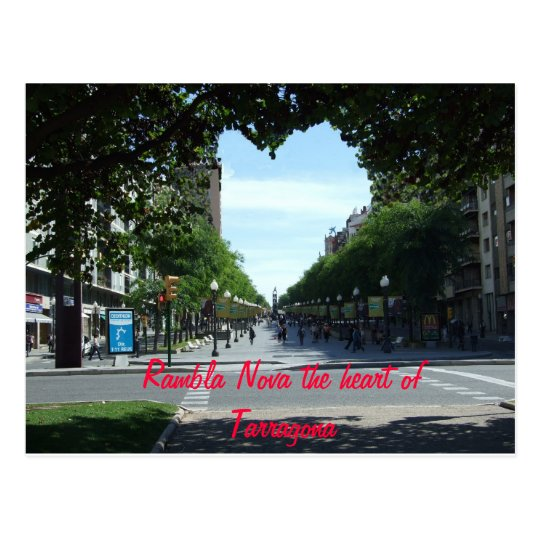 Rambla Nova the heart of Tarr... Postcard