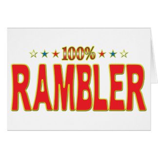 Rambler Star Tag Greeting Card