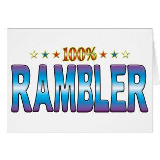 Rambler Star Tag v2 Greeting Card