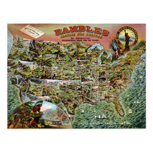 Rambles through our Country Postcard