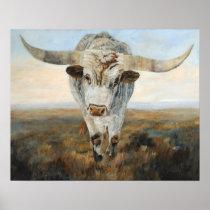 Ramblin' On Cow Poster