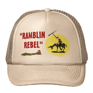 """""""RAMBLIN, REBEL"""" TRUCKER HAT"""