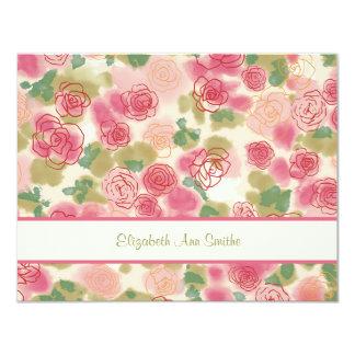 Rambling Rose Personalized Stationery Card