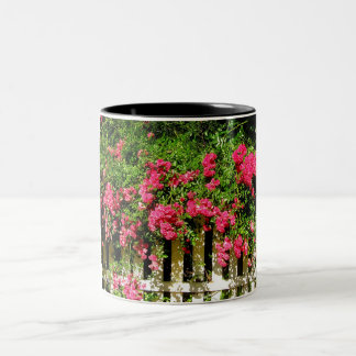 Rambling Rose Two-Tone Coffee Mug