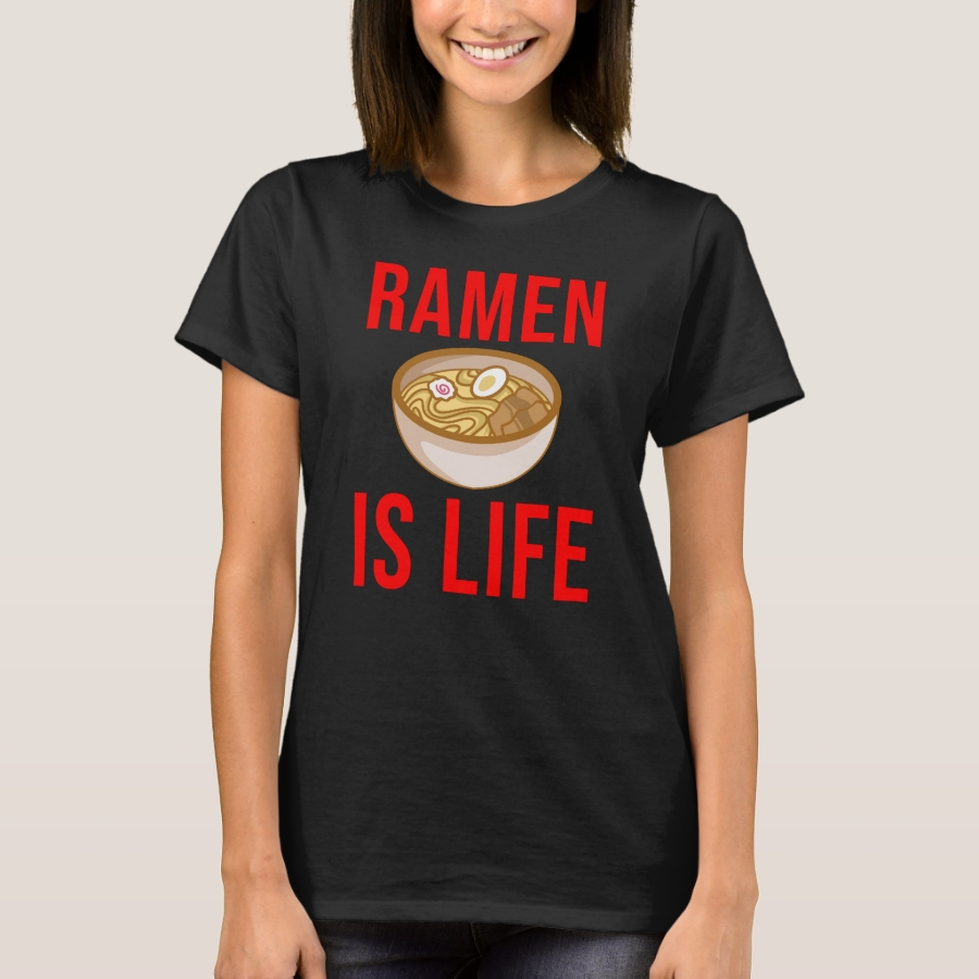 Ramen Is Life T Shirt forNoodle Lovers - Best Selling Long-Sleeve Street Fashion Shirt Designs