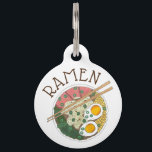 "Ramen Noodles Bowl Japanese Food Restaurant Foodie Pet ID Tag<br><div class=""desc"">Pet tag design features an original illustration of a classic bowl of Japanese food pork ramen noodles. Just personalize with the name of your dog or cat. Lots of coordinating pet products are also available from this shop! Don&#39;t see exactly what you&#39;re looking for? Contact Rebecca to have a product...</div>"