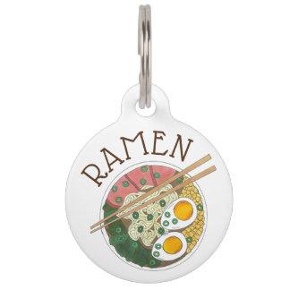 Ramen Noodles Bowl Japanese Food Restaurant Foodie Pet ID Tag