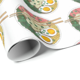 Ramen Noodles Bowl Japanese Food Restaurant Foodie Wrapping Paper