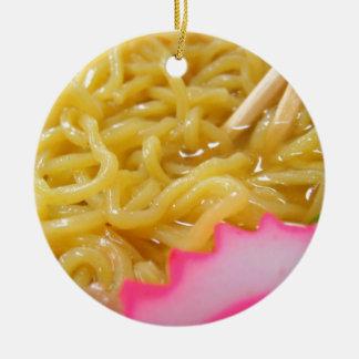 Ramen Noodles Ceramic Ornament