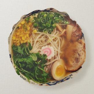 Ramen Noodles Round Pillow