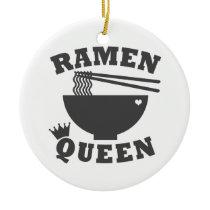 Ramen Queen Ceramic Ornament