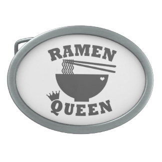 Ramen Queen Oval Belt Buckle