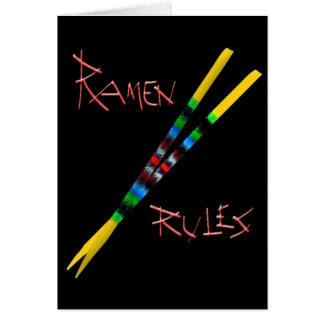 Ramen Rules Greeting Cards