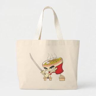 Ramen Shirt | Cute Ramen Bowl with Sword Shirt Canvas Bags