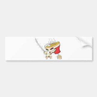 Ramen Shirt   Cute Ramen Bowl with Sword Shirt Bumper Sticker