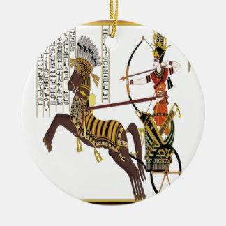 Ramesses design ceramic ornament