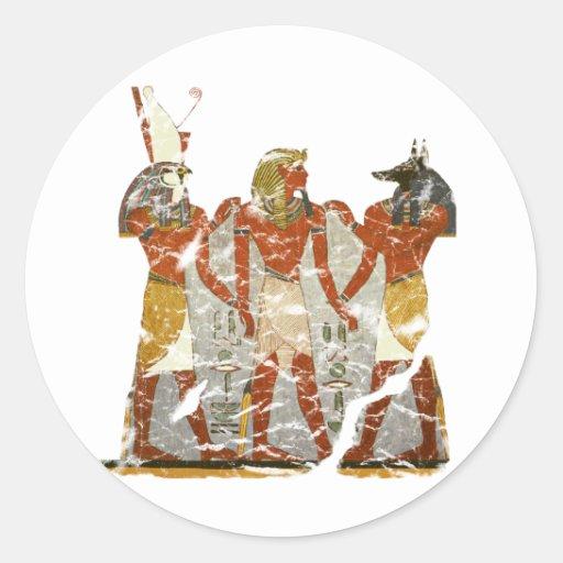 Ramesses,horus,anubus Classic Round Sticker