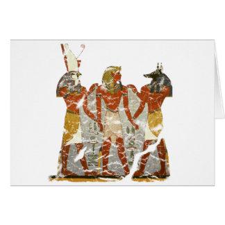 Ramesses,horus,anubus Greeting Card