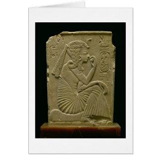 Ramesses II (1279-1213 A.C.) como niño, nuevo rein Tarjetón