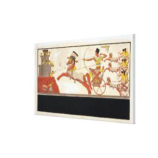 Ramesses II (1279-13 A.C.) en la batalla de Kadesh Impresión En Lienzo Estirada