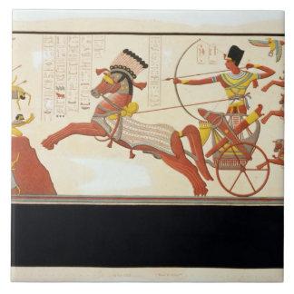 Ramesses II (1279-13 BC) at the Battle of Kadesh, Ceramic Tile