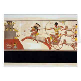 Ramesses II (1279-13 BC) at the Battle of Kadesh, Greeting Card