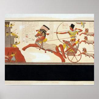 Ramesses II (1279-13 BC) at the Battle of Kadesh, Poster