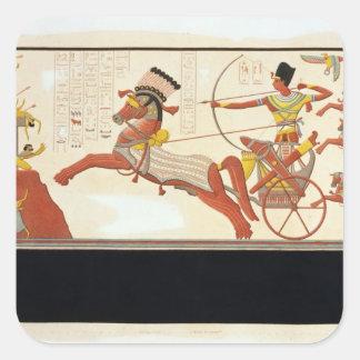 Ramesses II (1279-13 BC) at the Battle of Kadesh, Square Sticker