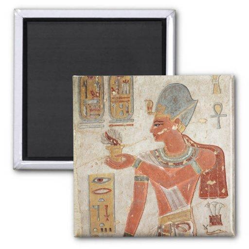 Ramesses III en vestido de batalla Imán Cuadrado