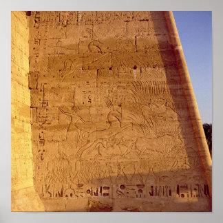 Ramesses III  hunting wild bulls Poster