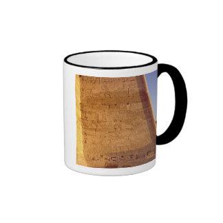 Ramesses III  hunting wild bulls Ringer Coffee Mug