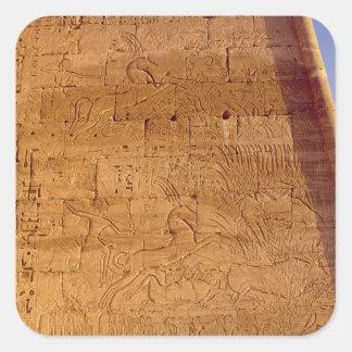 Ramesses III  hunting wild bulls Square Stickers