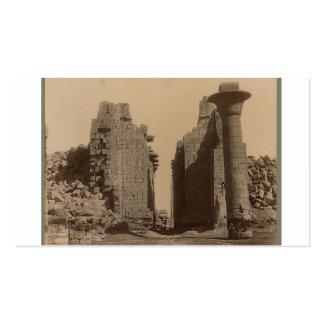 Ramesseum. Egypt circa 1867 Business Card Template