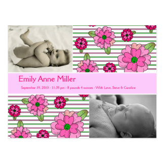 Ramillete rosado - niña tarjeta postal